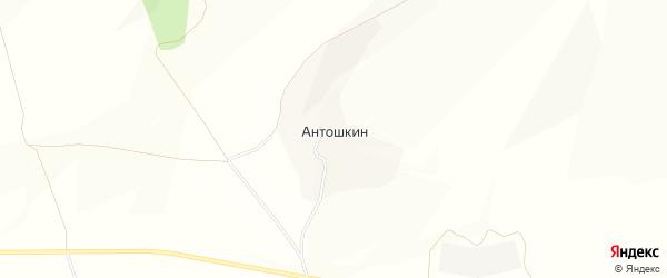 Карта хутора Антошкина в Белгородской области с улицами и номерами домов