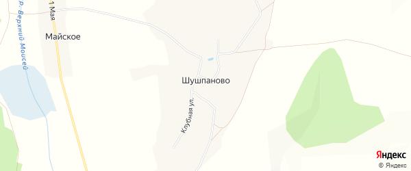 Карта села Шушпаново в Белгородской области с улицами и номерами домов