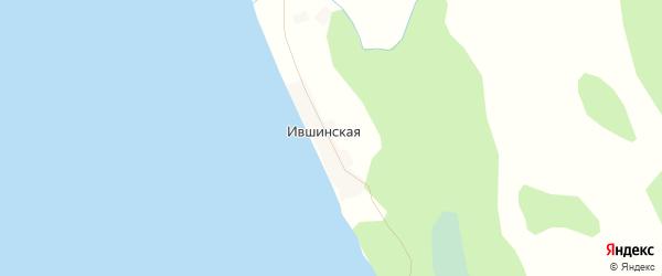 Карта Ившинская деревни в Архангельской области с улицами и номерами домов