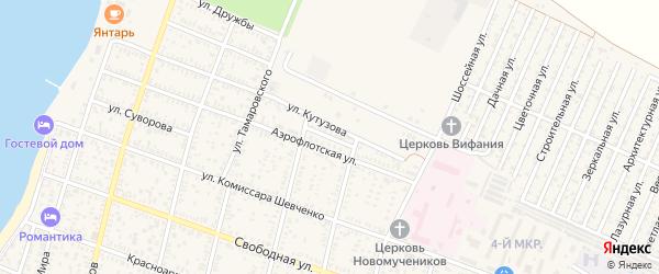 Короткий переулок на карте Приморско-Ахтарска с номерами домов