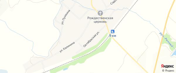 Карта села Рождествено в Белгородской области с улицами и номерами домов