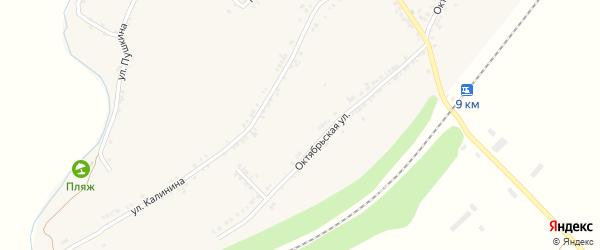 Октябрьский переулок на карте села Рождествено с номерами домов