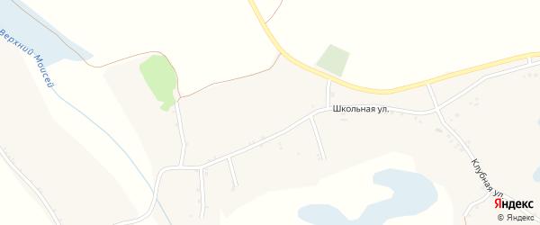 Луговой переулок на карте села Борисово с номерами домов