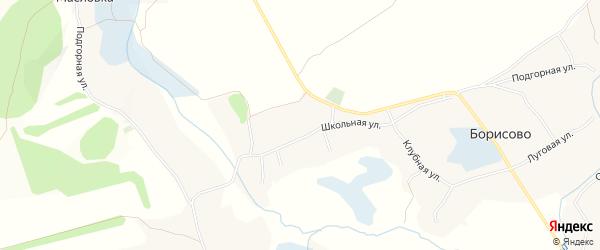 Карта села Борисово в Белгородской области с улицами и номерами домов