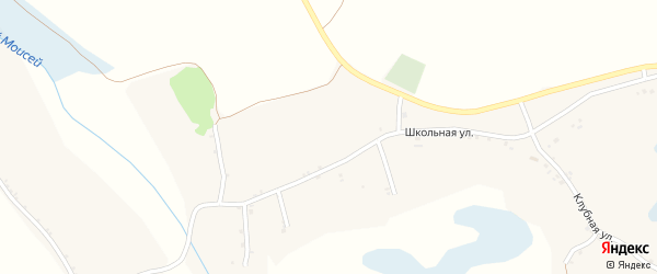 Клубная улица на карте села Борисово с номерами домов