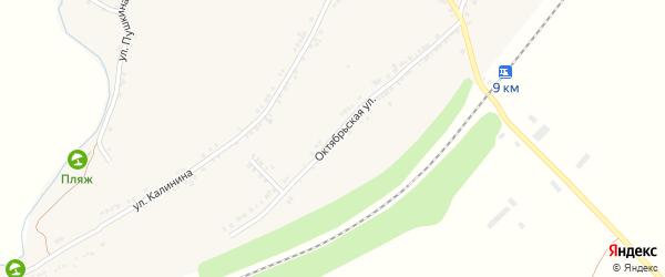 Октябрьская улица на карте села Рождествено с номерами домов