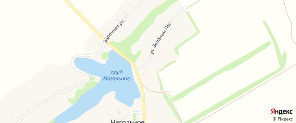 Улица Зеленый Лог на карте Нагольного села с номерами домов
