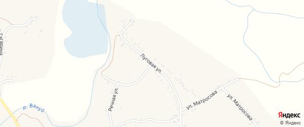 Луговая улица на карте села Рождествено с номерами домов