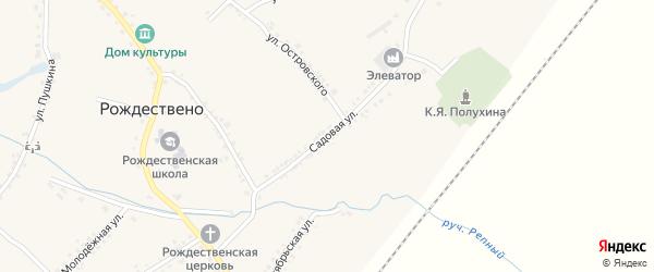 Садовая улица на карте села Рождествено с номерами домов