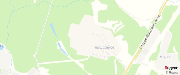 Карта поселка Загорска города Улан-Удэ в Бурятии с улицами и номерами домов