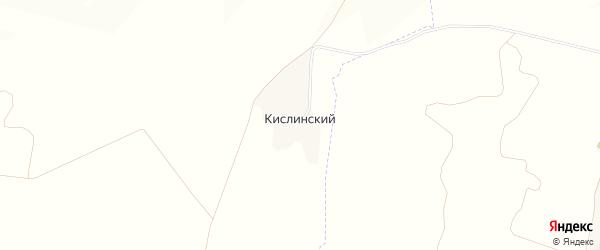Карта Кислинского хутора в Белгородской области с улицами и номерами домов
