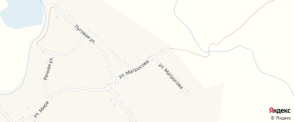 Улица Матросова на карте села Рождествено с номерами домов