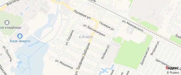 Коммунистическая улица на карте Приморско-Ахтарска с номерами домов