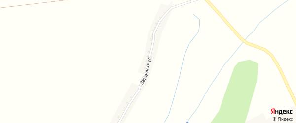 Заречная улица на карте Новохуторного села с номерами домов