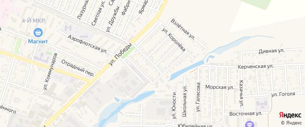 Молодежная улица на карте Приморско-Ахтарска с номерами домов