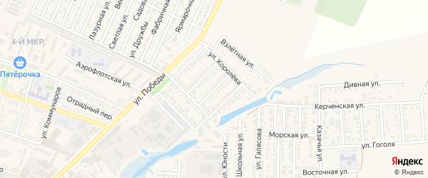 Улица Пацаева на карте Приморско-Ахтарска с номерами домов