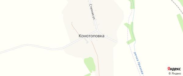 Степная улица на карте хутора Конотоповки с номерами домов