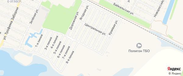 Зеленая улица на карте садового некоммерческого товарищества Дружбы с номерами домов