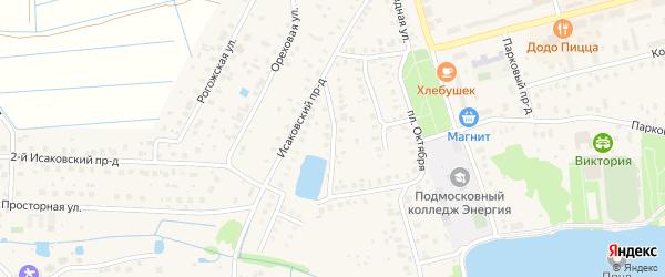 Малопрудный переулок на карте Электроуглей с номерами домов