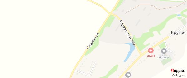 Садовая улица на карте Крутого села с номерами домов