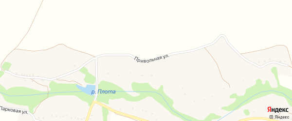 Привольная улица на карте хутора Змеевки с номерами домов