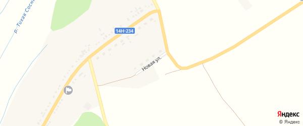 Новая улица на карте Новохуторного села с номерами домов