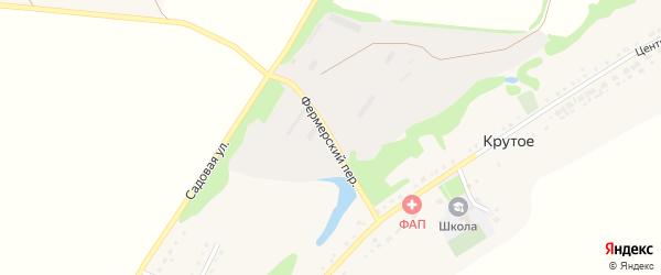Фермерский переулок на карте Крутого села с номерами домов