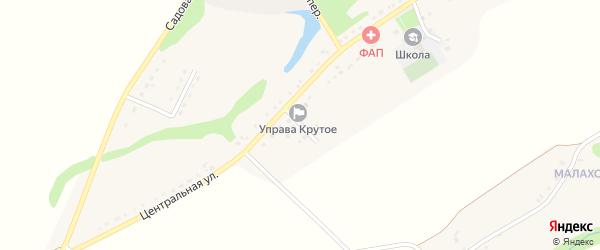 Полевой переулок на карте Крутого села с номерами домов