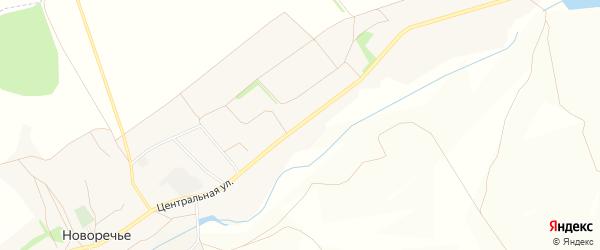 Карта села Новоречьего в Белгородской области с улицами и номерами домов