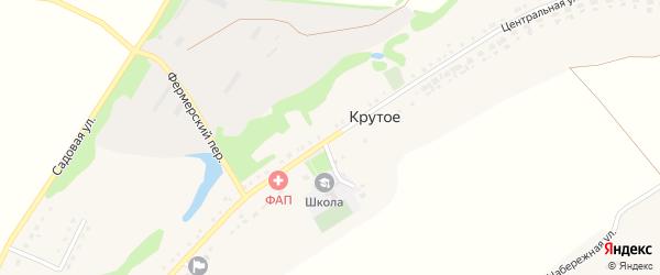 Центральная улица на карте Крутого села с номерами домов