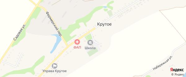 Школьный переулок на карте Крутого села с номерами домов