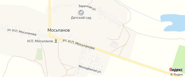 Молодёжная улица на карте хутора Мосьпанова с номерами домов
