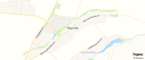 Карта Крутого села в Белгородской области с улицами и номерами домов