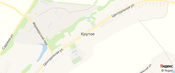 Луговой переулок на карте Крутого села с номерами домов