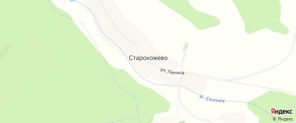 Карта села Старокожево в Белгородской области с улицами и номерами домов