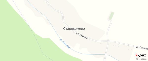 Лесная улица на карте села Старокожево с номерами домов