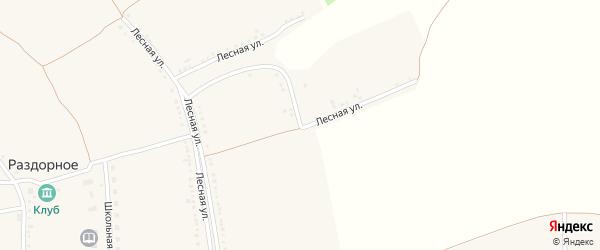 Лесная улица на карте Раздорного села с номерами домов