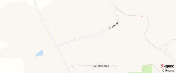 Улица Мира на карте села Верхососны с номерами домов