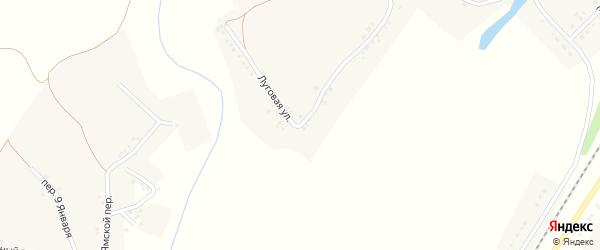 Луговая улица на карте села Безгодовки с номерами домов
