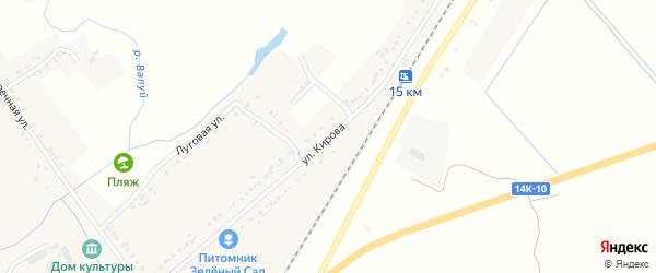 Улица Кирова на карте села Насоново с номерами домов