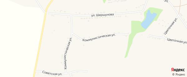 Коммунистическая улица на карте села Верхососны с номерами домов