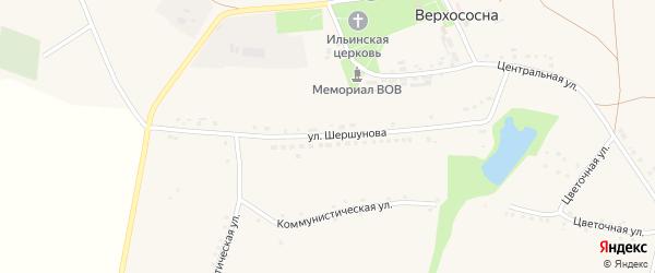 Улица Шершунова на карте села Верхососны с номерами домов