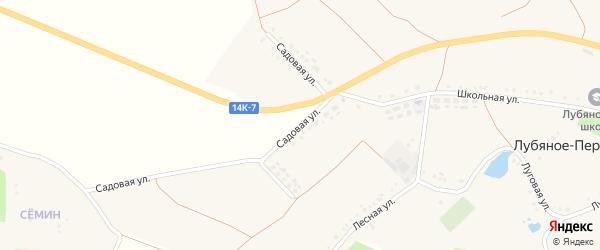 Садовая улица на карте Лубяного-Первого села с номерами домов