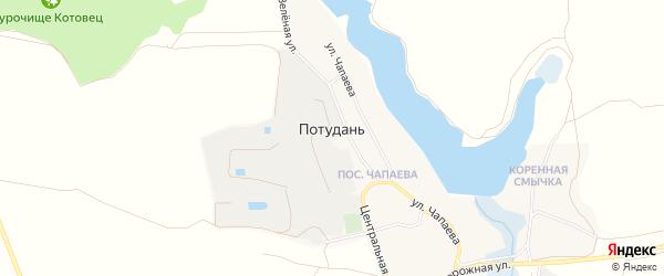 Карта села Потудани в Белгородской области с улицами и номерами домов