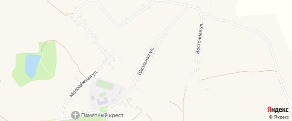 Школьная улица на карте села Верхососны с номерами домов
