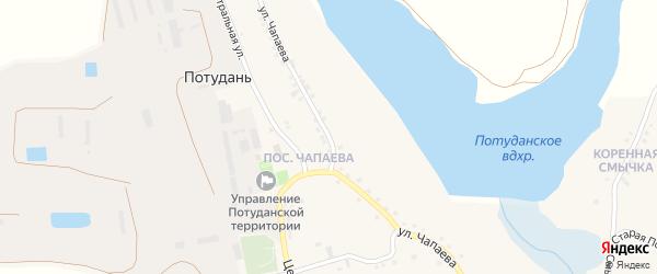 Улица Чапаева на карте села Потудани с номерами домов