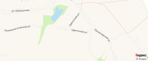 Цветочная улица на карте села Верхососны с номерами домов
