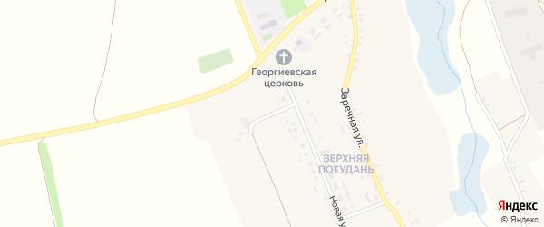 Полевой переулок на карте села Потудани с номерами домов