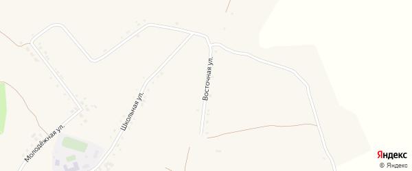 Восточная улица на карте села Верхососны с номерами домов