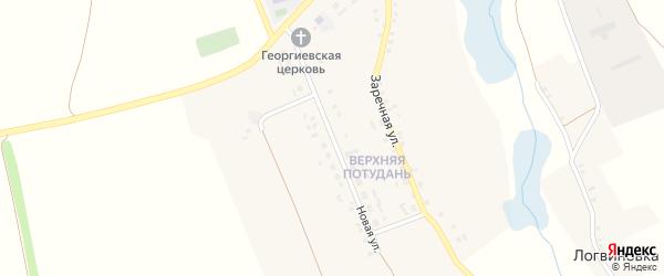 Новая улица на карте села Потудани с номерами домов